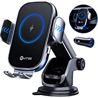 WAITIEE Draadloze autolader,15W Wireless Car Charger Auto Klem Mount voor iPhone 12/11/Pro Max/XS/XR/X/8plus/8/Samsung…