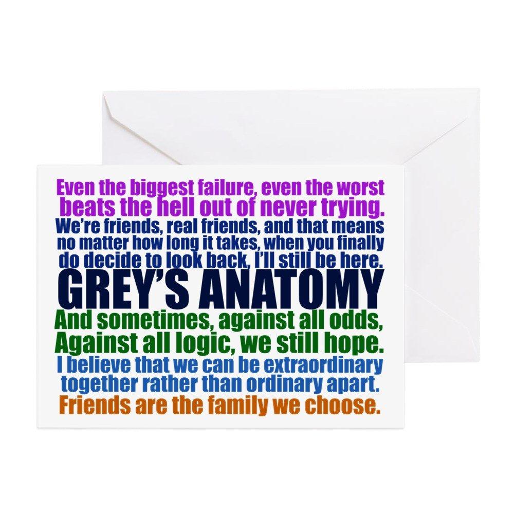 Amazon Cafepress Greys Anatomy Collage Greeting Card