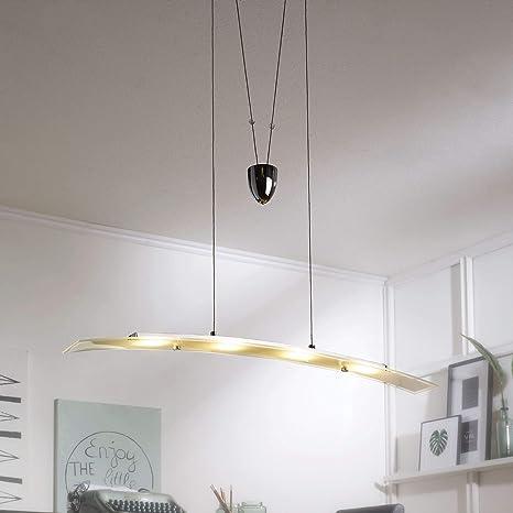 FineBuy - Lámpara de techo LED de proyección de 4 focos ...
