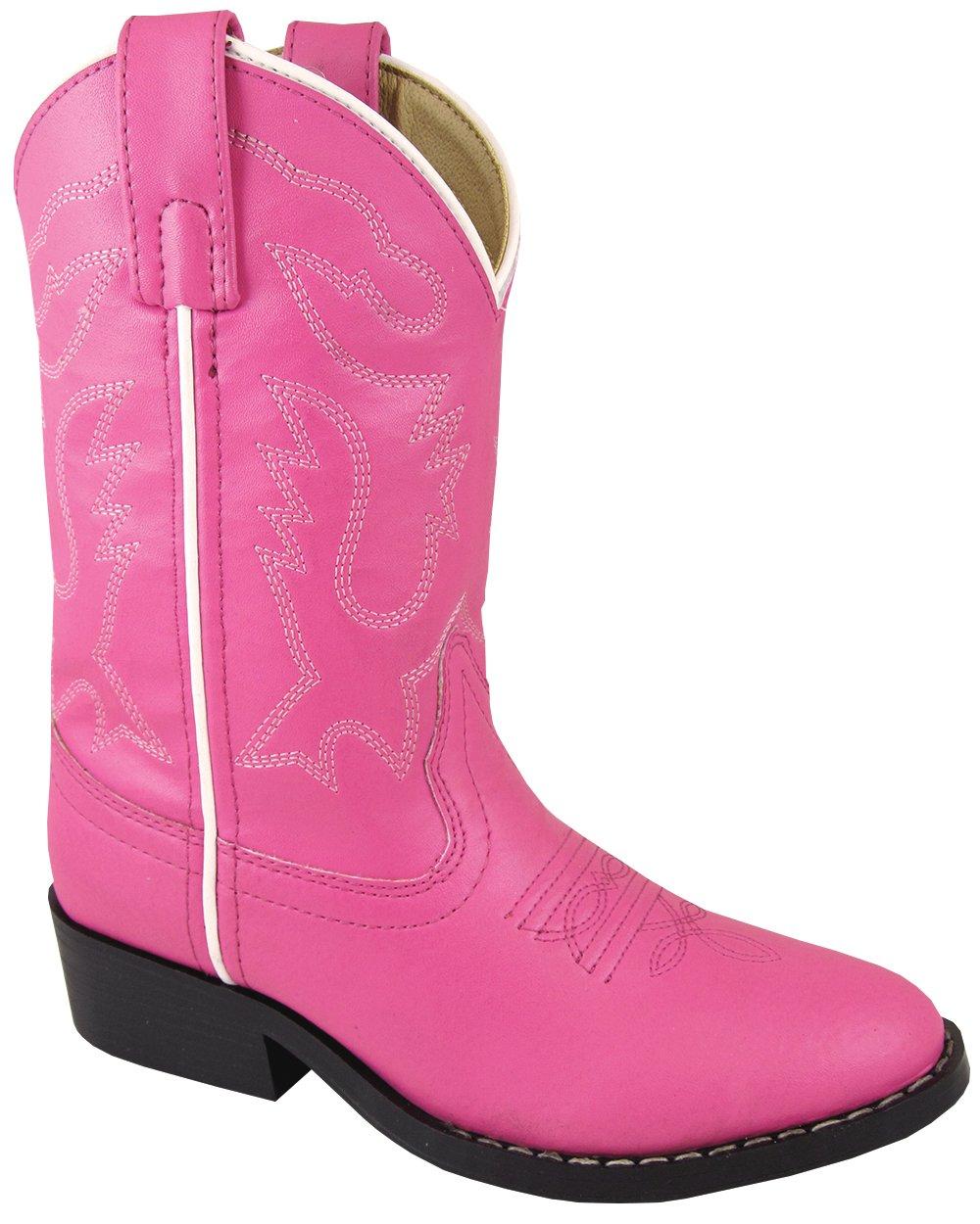 Smoky Mountain Boys Hot Pink Monterey Western Cowboy Boots,Pink,6.5 M US Big Kid Smoky Mountain Boots 1571Y