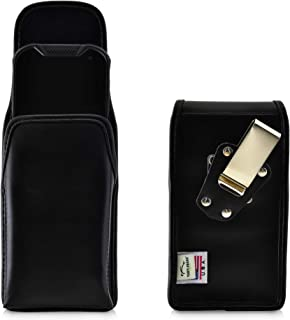product image for Turtleback Belt Case Designed for Kyocera DuraForce PRO 2 (6910 6900) Vertical Holster, Black Leather Pouch with Heavy Duty Rotating Belt Clip, Made in USA