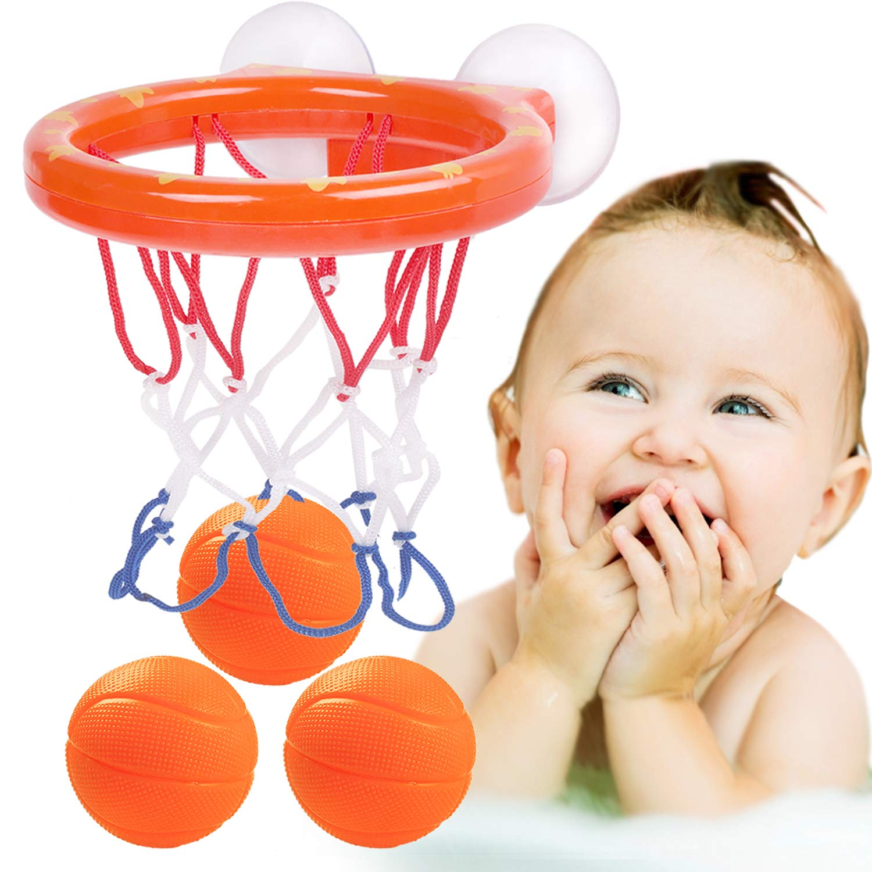 Kids Bath Toys Basketballs Hoop /& Ball Bathtub Water Play Set for Toddler Babies