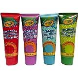Childrens Crayola Bathtub Fingerpaint Soap Assorted Colors - (4) 3 Fl Oz Tubes