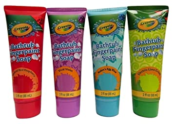 amazon com childrens crayola bathtub fingerpaint soap assorted