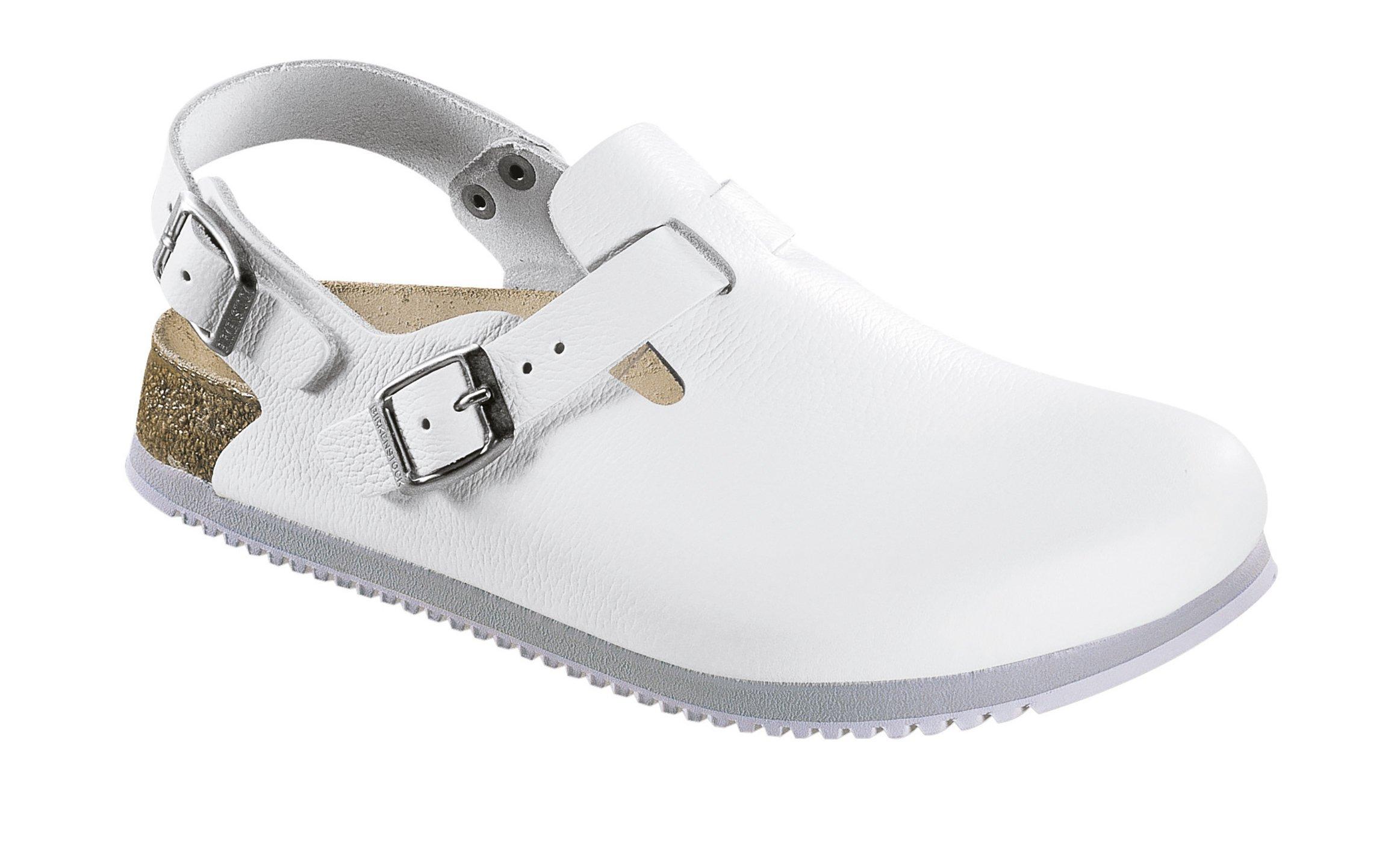Birkenstock Unisex Professional Tokyo Super Grip Leather Slip Resistant Work Shoe,White, 36 N EU /5-5.5 N US Women