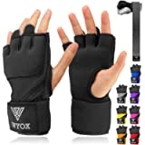 WYOX Boxing Wraps MMA Gloves Inner Boxing Gloves for Men Women Youth - EZ-Off & On - Thick Knuckle Padding - Breathable…