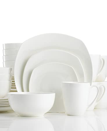 Gorham Boulder Creek 40pc Bone China Dinnerware Set Service for 8  sc 1 st  Amazon.com & Amazon.com | Gorham Boulder Creek 40pc Bone China Dinnerware Set ...