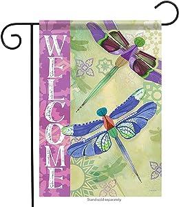 Carson Home Accents FlagTrends 46885 Delightful Dragonflies Classic Outdoor Garden Flag, Honey Bee Welcome