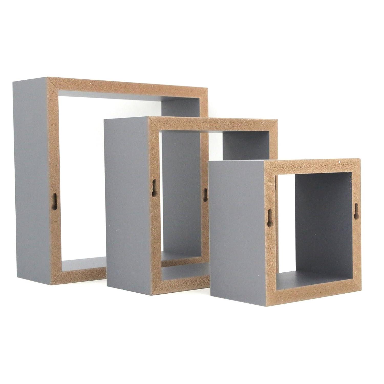 Harbour Housewares Quadrat Wandregal Regal Hangeregal Aus Holz 3