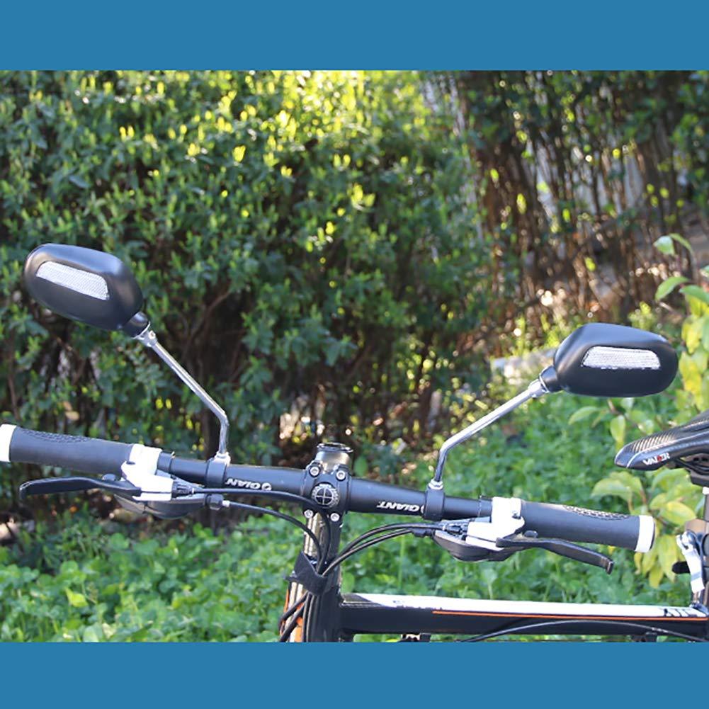 yimosecoxiang R/ückspiegel M6 Lenker rutschfest Schwarz breite Reichweite f/ür Fahrrad 1 Paar