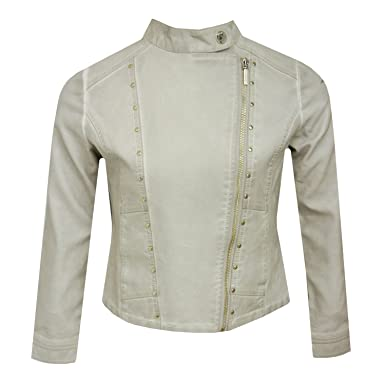 e914147ef mayoral - Girls Leather Jacket Artificial leather, cream colored -  6.455.065c - 176cremefarben
