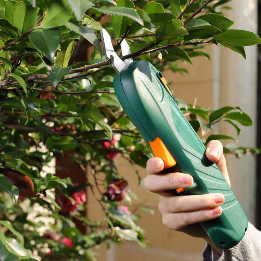 Wanlecy Professional Electric Pruners Cordless Secateurs Pruning Shear Heavy Duty Garden Branches Grooming Cutting 7.2V Rechargeable