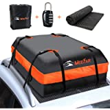 MeeFar Car Roof Bag XBEEK Rooftop top Cargo Carrier Bag Waterproof 15 Cubic feet for All Cars with/Without Rack…