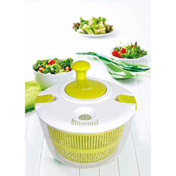 Escurridor de ensalada, verduras secas y leche, gran ensalada, gran secador de verduras, secador de lechugas para secar la ensalada, secador de verduras: ...