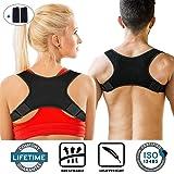 Corrector de Espalda Para Hombre y Mujer Talla Única,MMTX Corrección de Postura, ajustable corrector de hombro postural transpirable volver a cinturón postura corrección