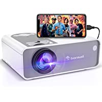 Movie Projector, Outdoor and Home Video Projector for Cinema, Supported 1080P, Portable Mini Theater Projector Built in…
