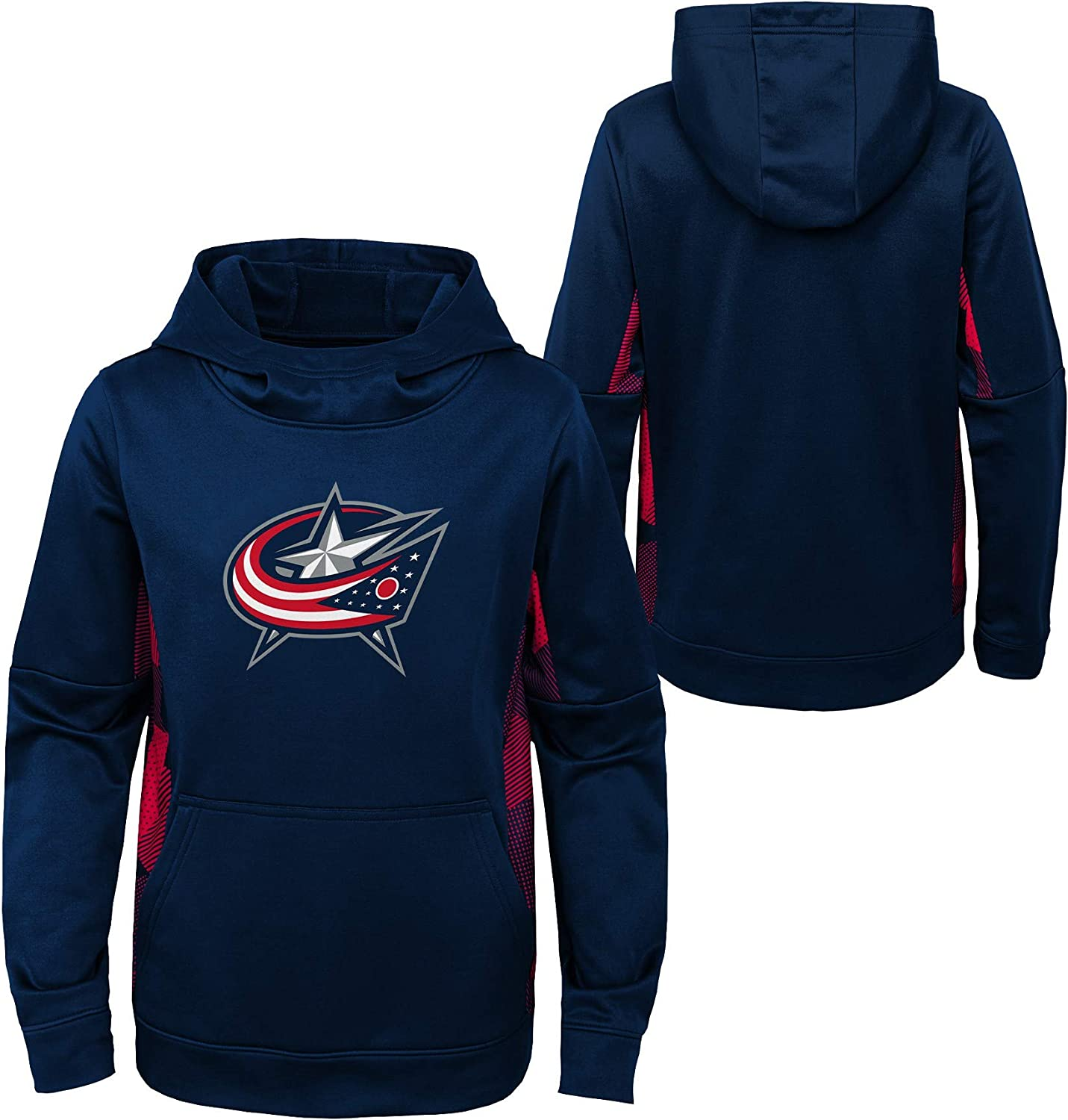 OuterStuff Youth NHL Columbus Blue Jackets Performance Hoodie Youth Sizing
