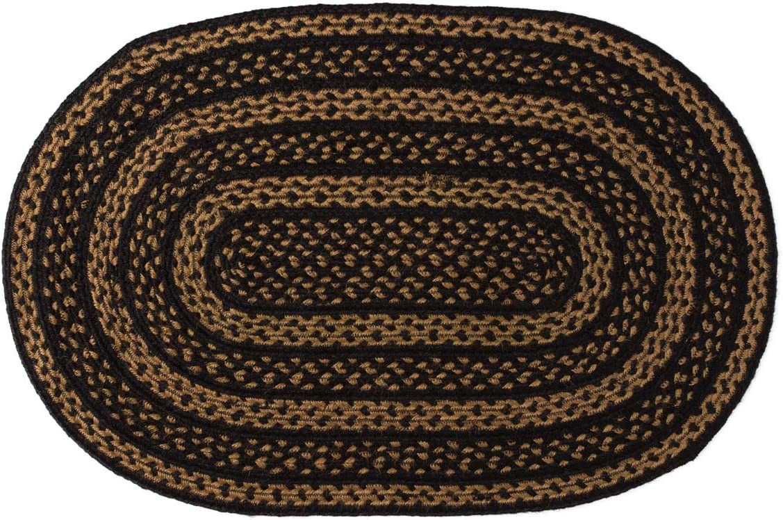 Ranking TOP12 VHC Brands Farmhouse Jute Oval Rug Floorin 24x36 Direct stock discount Braided Country