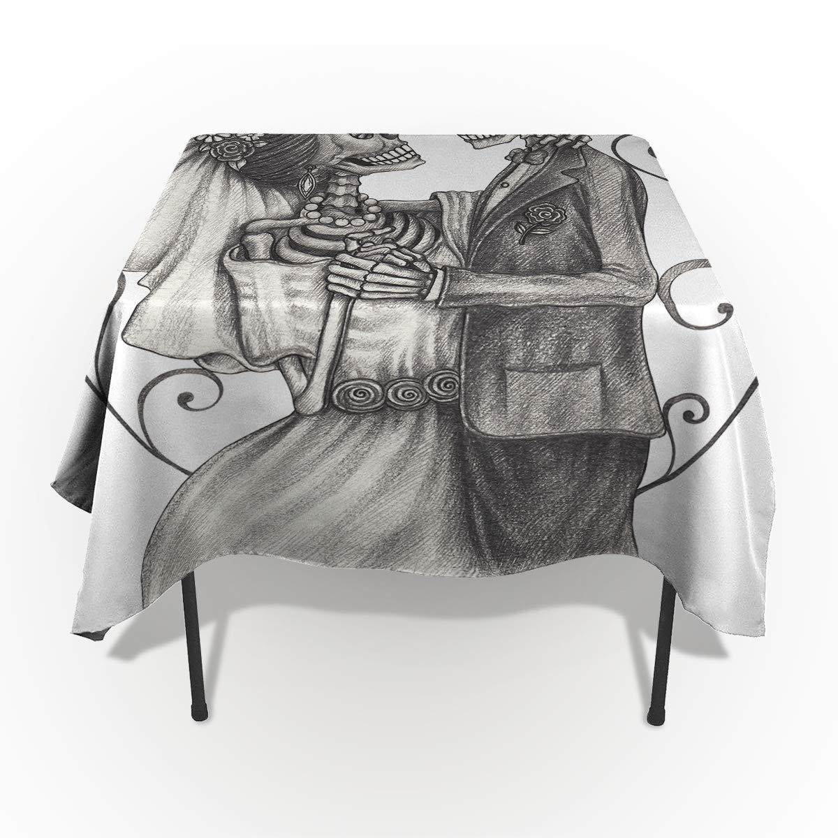 Élégante décoration de table motif renne de Noël avec nez rouge 54*109in=138*275cm Weddingair7315 Nappes de Noël rectangulaires anti-déversement Drap en coton En polyester lavable