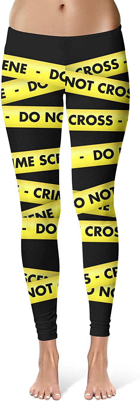 Crime Scene Tape Sport Capri Leggings