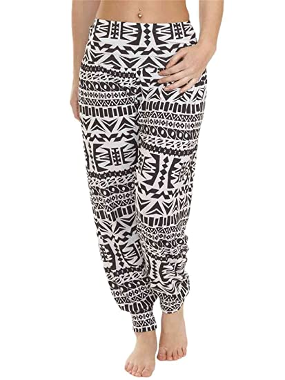 3940f213cae5 LOVE MY Fashions Womens Alibaba Harem Printed Pants Baggy Elasticated  Causal Waist Ankle Cuff Hareem Trousers