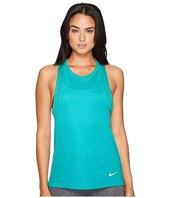 2e1e0269f2959 Amazon.com  Nike Women s Dri-Fit Miler Mesh Running Tank Top-Turbo ...