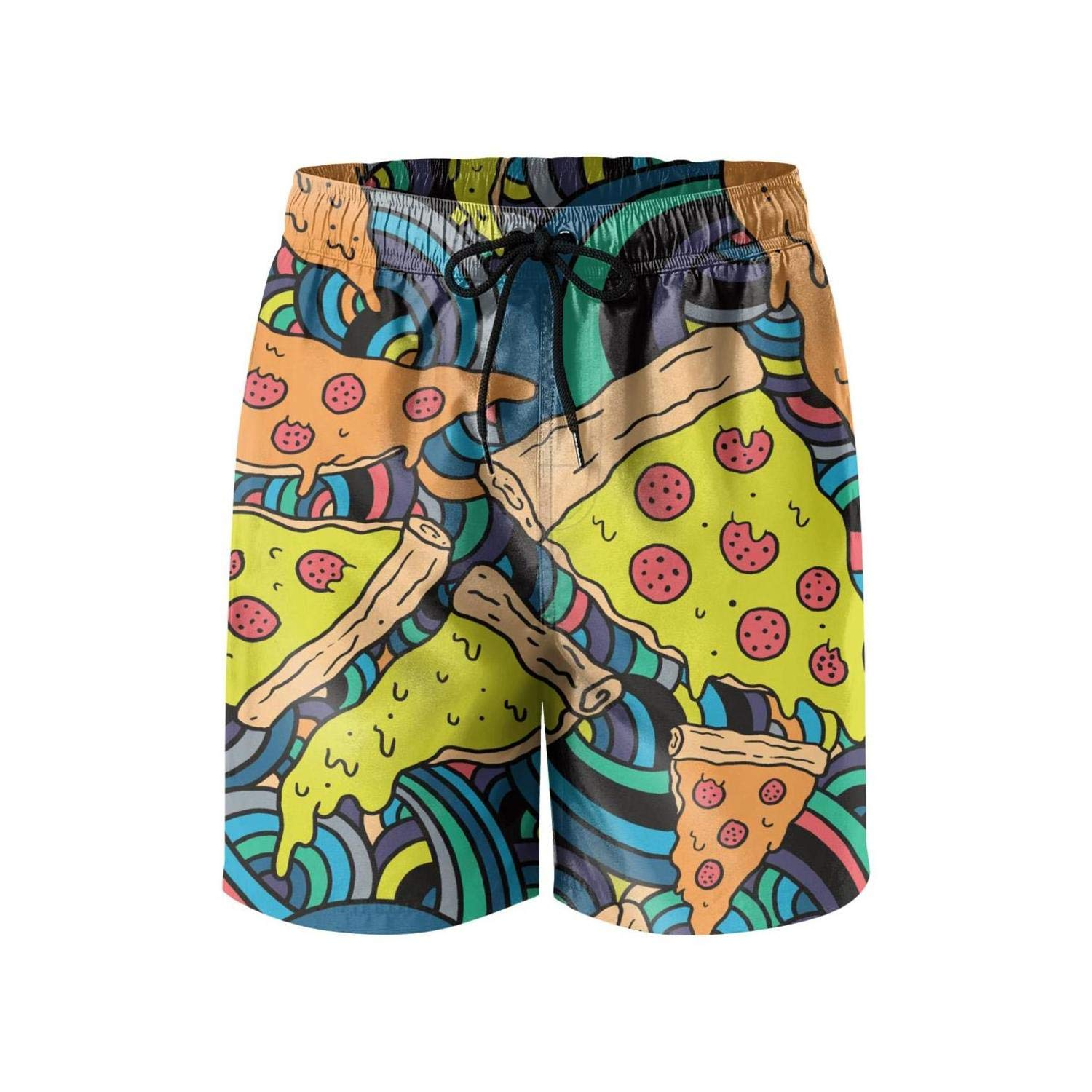 Wild Quick Dry Fully Lined Pants Mesh Lining Pink Pizza Wave Swim Shorts