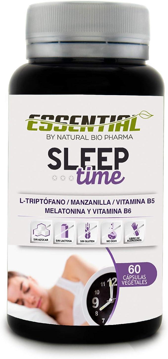 Melatonina Pura, Triptófano, Manzanilla y Vitaminas B5 y B6 | Conciliación rápida del Sueño, Elimina el Insomnio y Mejora el descanso | Efecto rápido en 30 minutos duraderos hasta 8 horas |