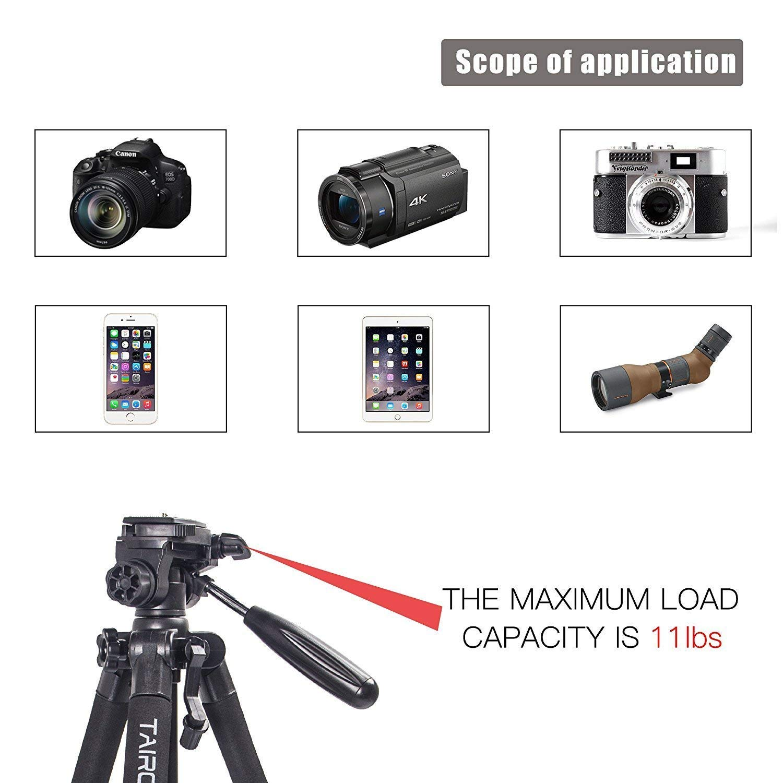 Tr/ípode Ligero Tr/ípode Compacto para c/ámara de 140cm con Cabezal panor/ámico de 360 Grados y una Placa de liberaci/ón r/ápida para SLR Canon Digital EOS Nikon Sony Samsung Panasonic(Azul)