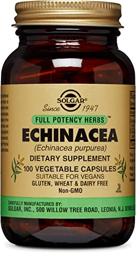 Solgar Full Potency Echinacea Vegetable Capsules, 100 Count