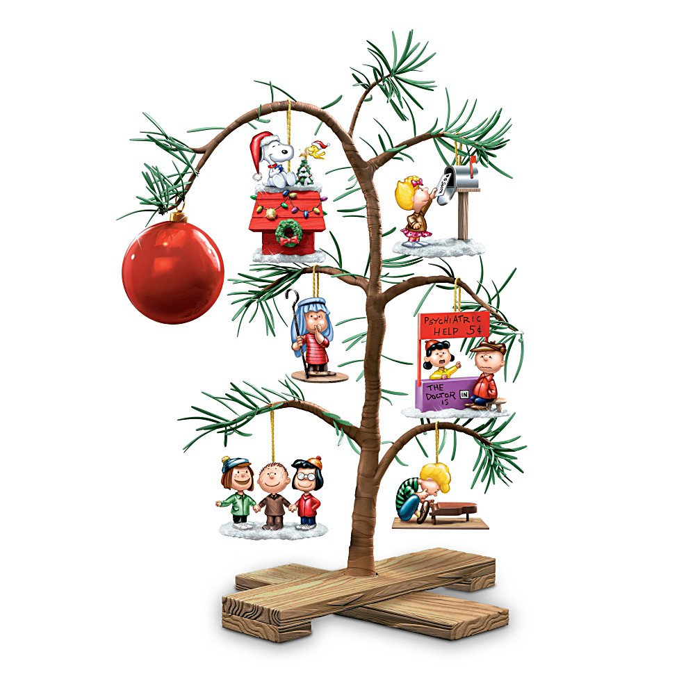 Tabletop Tree: PEANUTS Classic Holiday Memories Tabletop Tree by The Bradford Exchange