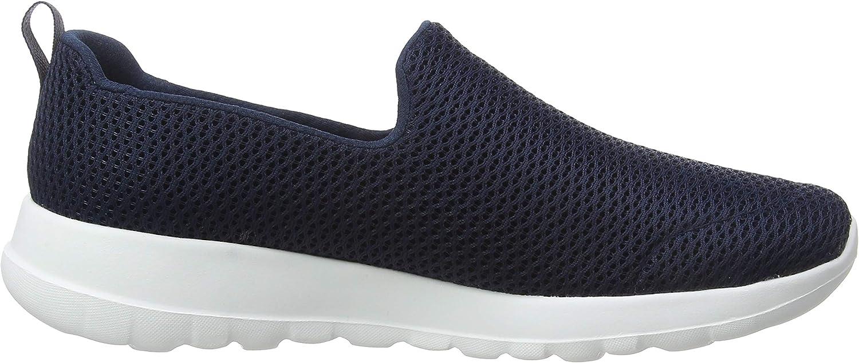 Skechers Womens 15600 Go Walk Joy Fabric Low Top Slip On Walking Shoes Navy White