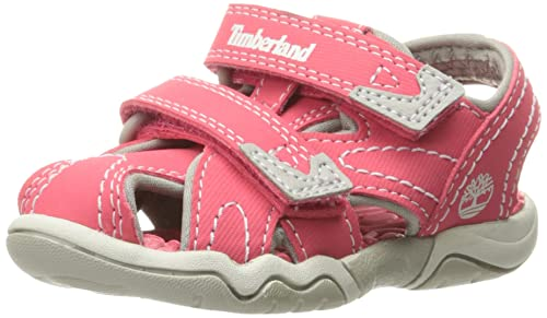 Timberland Girls  Adventure Seeker Closed Toe Sandal, Geranium, 4 M US  Toddler 295112e4df6
