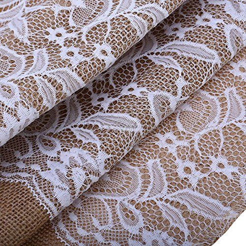 Etonnant BEST OF BEST Burlap Table Runner Lace Hessian Table Cloth Natural Jute  Wedding Festival Decoration Crafts