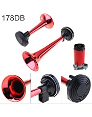 12V 178dB Super Loud Dual Tone Air Horn Set Trumpet Compressor for Motorcycle Car Boat Truck