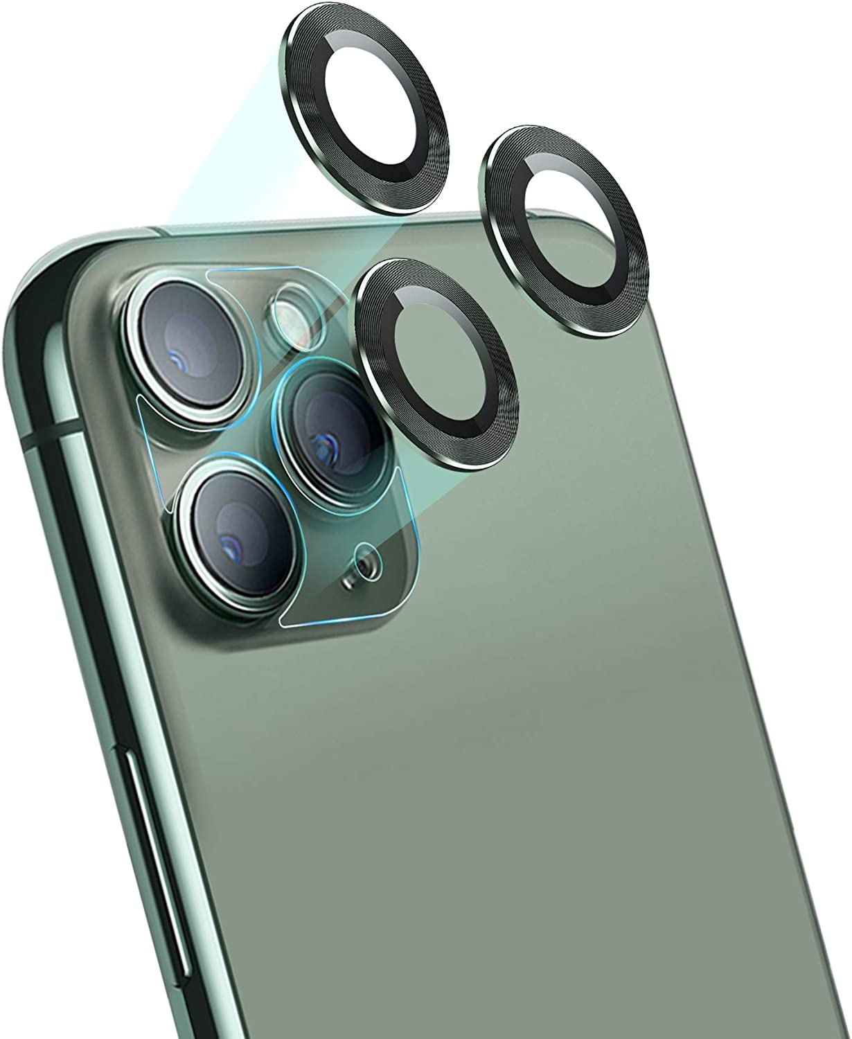 Amazon Com Jolojo Sapphire Metal Camera Lens Protector Glass For Iphone 11 Pro 5 8 Pro Max 6 5 High Definition Anti Scratch Full Coverage Protection Ring Ultra Thin Clear Midnight Green 2019 Set Of 3