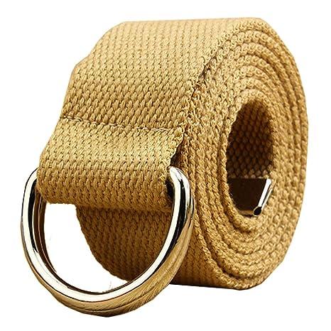Lienzo Web cinturón doble gancho hebilla 1 1/2 pulgadas extra larga punta de metal color sólido: Amazon.es: Ropa y accesorios