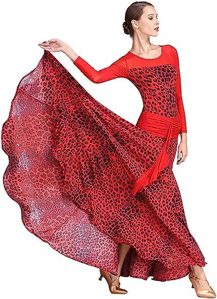 XHTW&B Mujeres Danza Falda Vestidos Flexible Escenario Disfraces ...