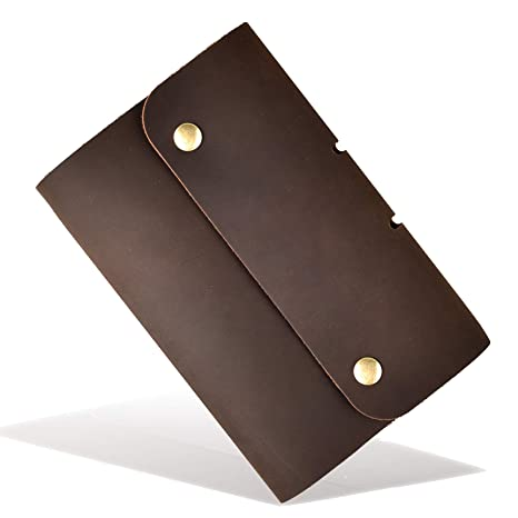 f48a5abcf84 Leather Journal Refillable Notebook, with Pen Loop Writing Bound Diary Book  for Men Women,