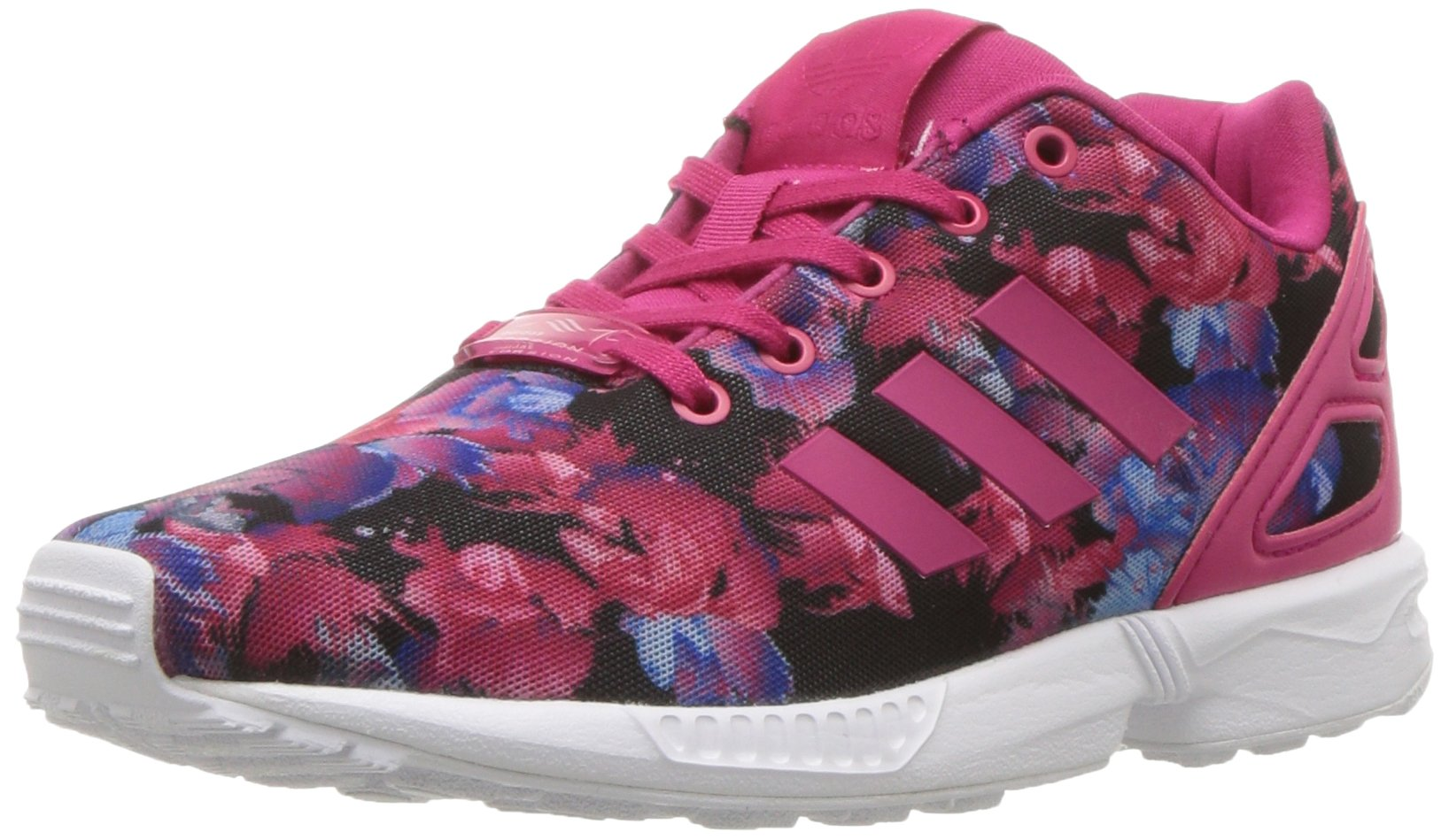 adidas Originals Girls' ZX Flux C Running Shoe, Bold Pink Buzz White, 13.5 M US Little Kid