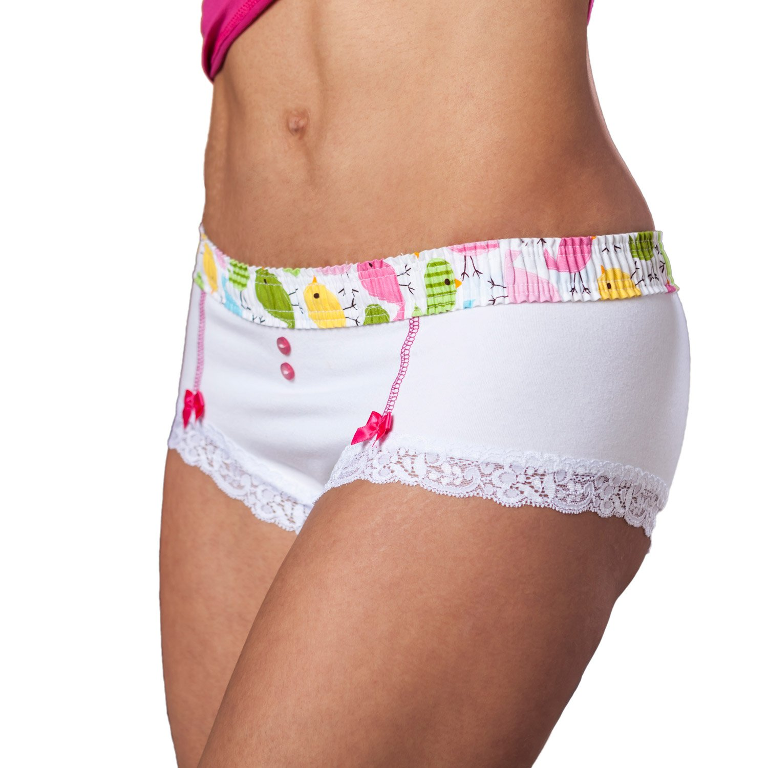 4c1cec412e8 Foxers Cheeky Women s Cotton Boyshort Underwear Cute Boxer Brief Panties