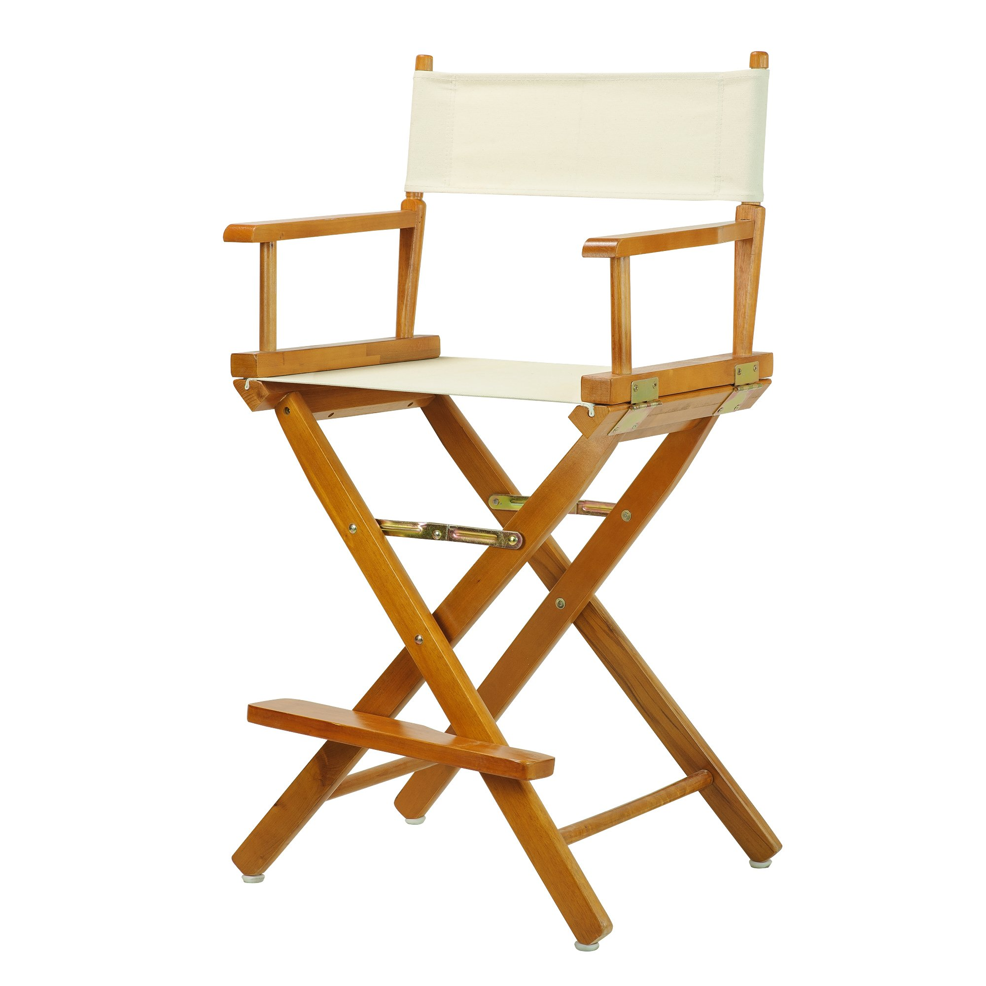 Casual Home 24'' Director's Chair Honey Oak Frame-with Wheat Canvas, Counter Height