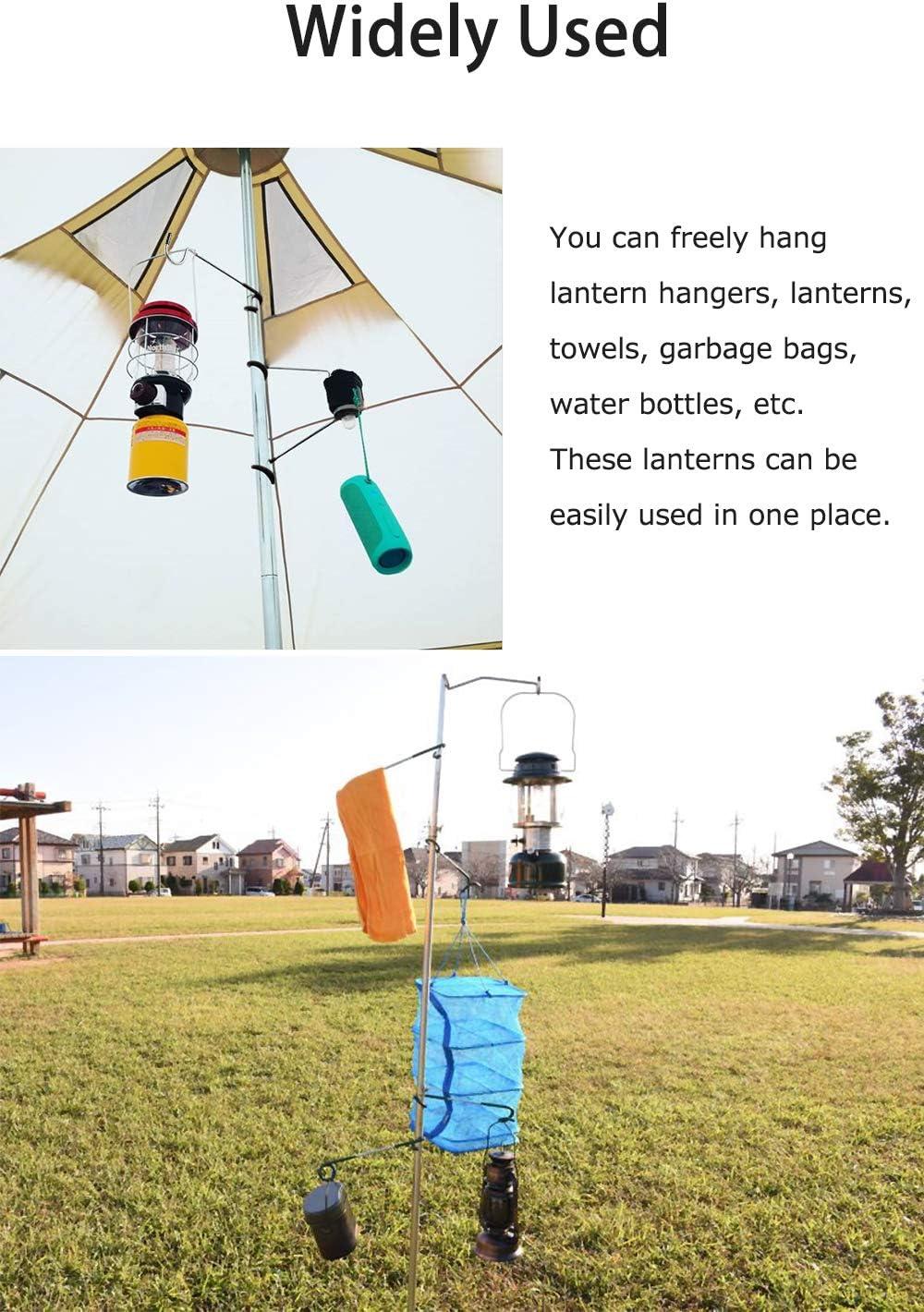 OMUKY Camping/Hook/Hanger Hook Lantern Lamp Hanger Tent Pole Post Hook Hanging for Camping Fishing