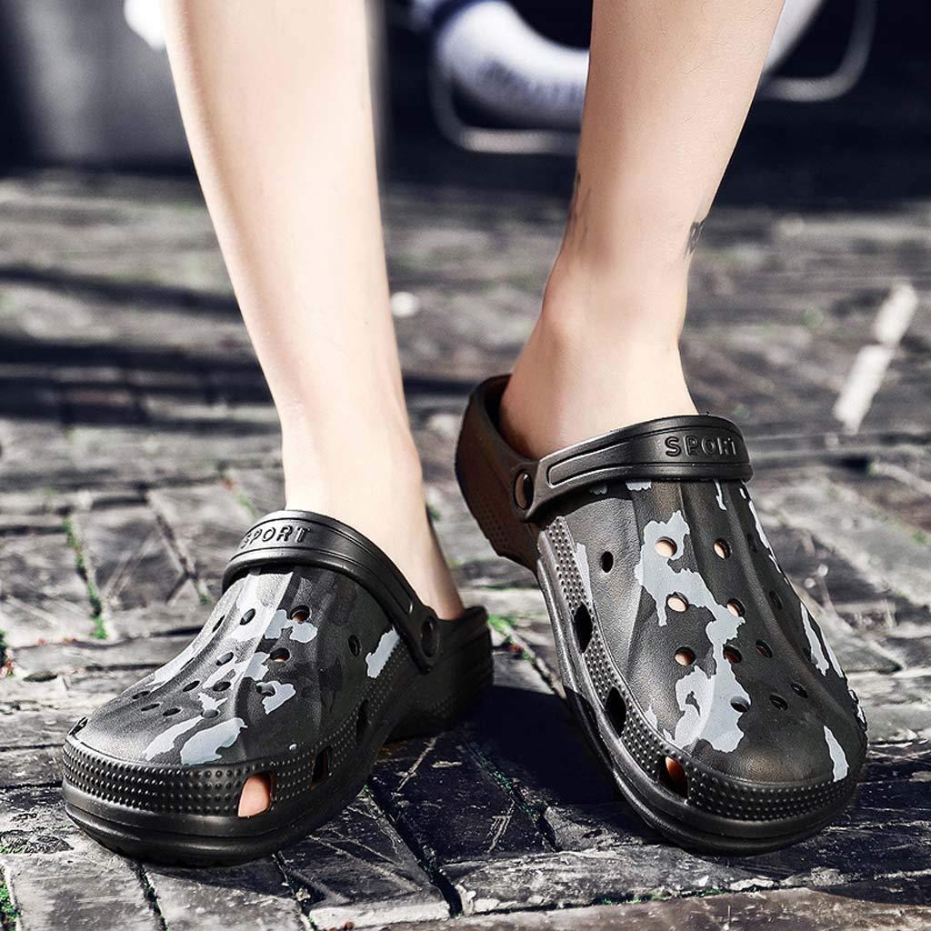 Corriee Mens Shoes Garden Clogs Anti-Slip Beach Shower Sandals Slip on Massage Walking Shoe Male Summer Camouflage Slippers