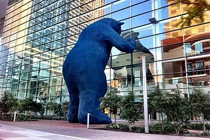 Amazon Com Denver Colorado Blue Bear 24x36 Fine Art