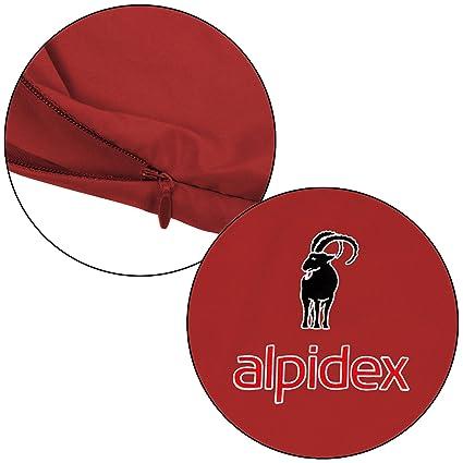 ALPIDEX Polialcotón Forro de la Bolsa de Dormir Pocket Paul Saco Sábana Interior para Saco de Dormir di, Color:Red Fire: Amazon.es: Deportes y aire libre