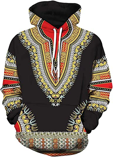Fiere Mens Trible Slim Fit African Printing Long-Sleeve Casual Longshirt