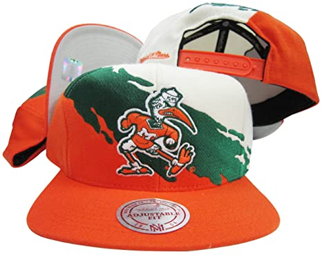 Miami Hurricanes Snapback Adjustable Plastic Snap Back Hat   Cap at ... 859e0f3d9a0