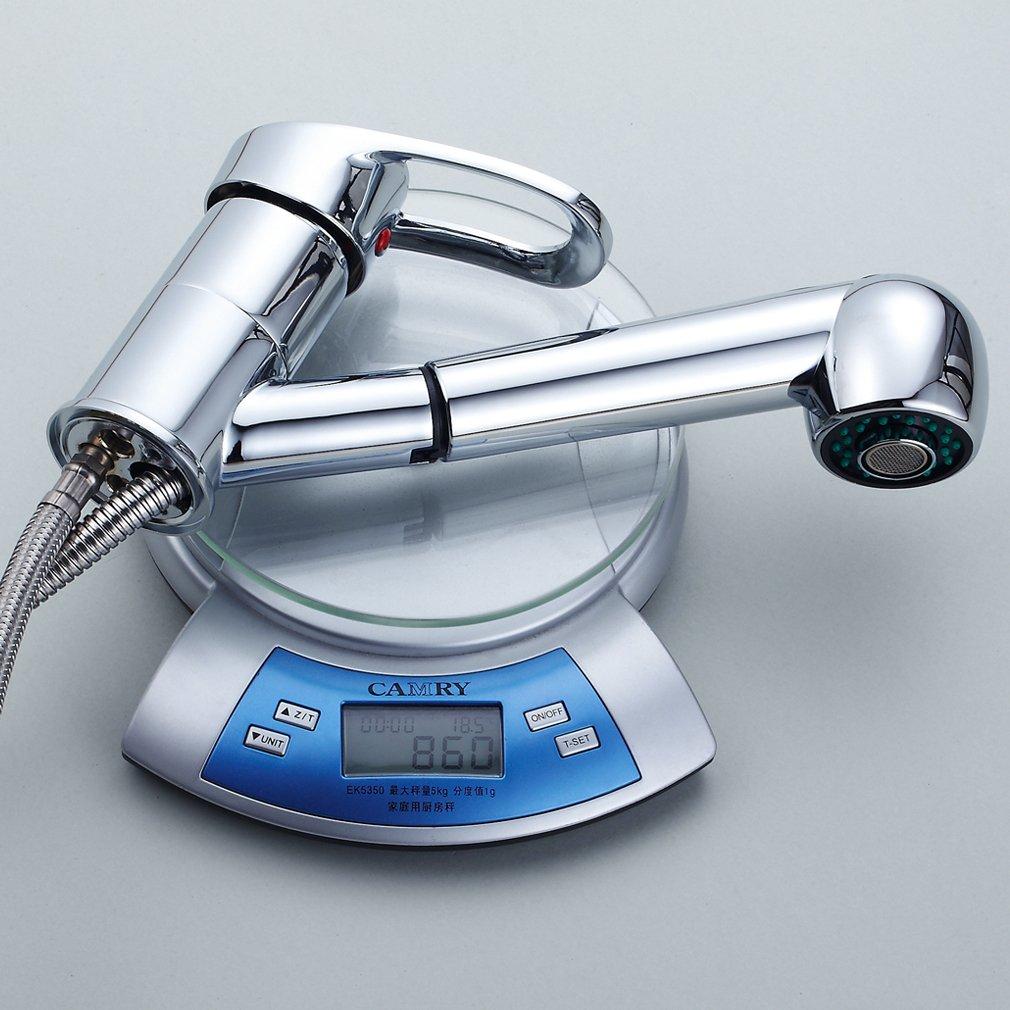 Auralum miscelatore rubinetto estraibile del lavandino con - Pulire tubi lavandino cucina ...