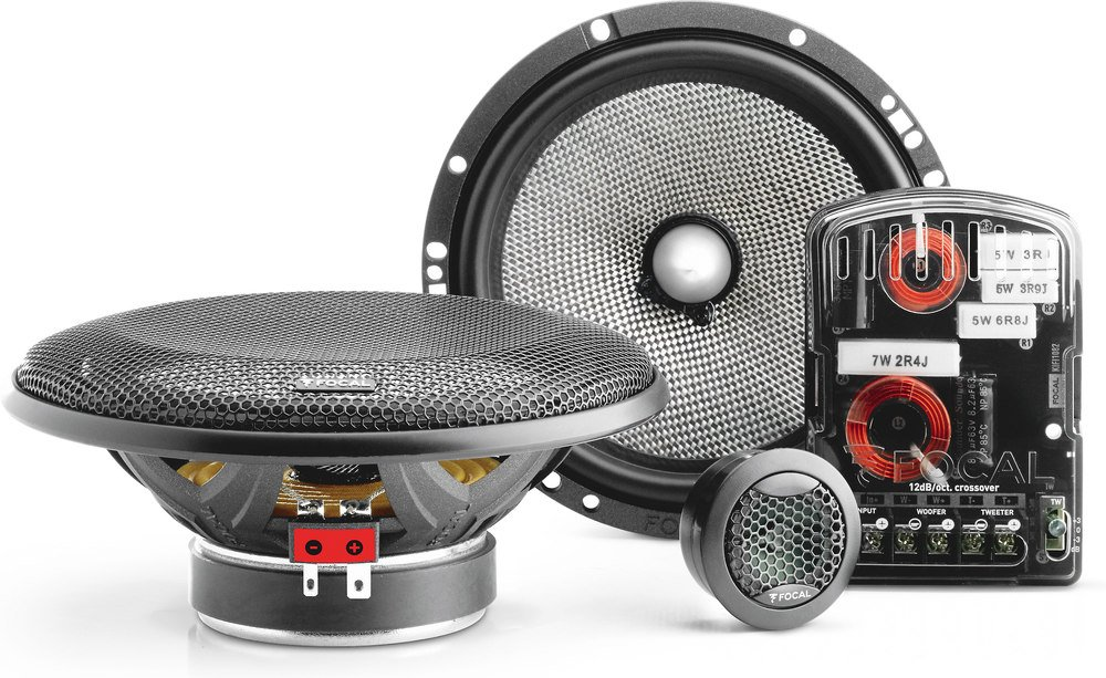 Focal 165 A1, 120W, 6-1/2' 2-way Access 1 Series Component Car Speakers System 6-1/2 2-way Access 1 Series Component Car Speakers System